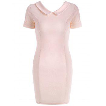 Flat Collar Fitted Mini Dress