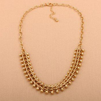 Statement Metal Alloy Braid Chain Necklace