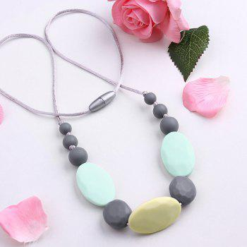 Oval Beaded Silicone Rope Necklace