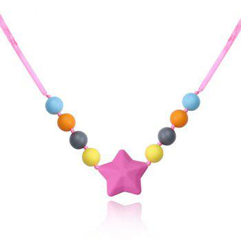 Beaded Silicone Star Necklace