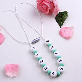 Silicone Beaded Numbers Necklace