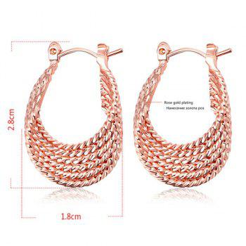 Gypsy Horseshoe Shaped Hoop Earrings - ROSE GOLD