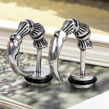 Alloy Devil Horn Stud Earrings -  SILVER