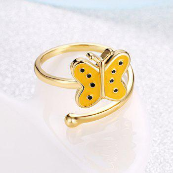Bague de manchette en forme de papillon - Or