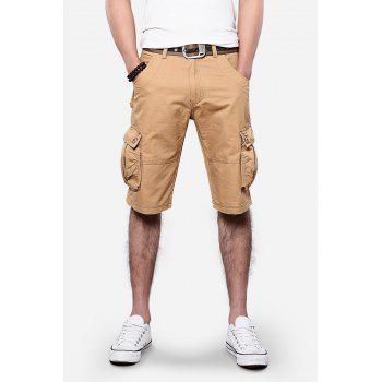 Straight Leg Pockets Design Cargo Shorts