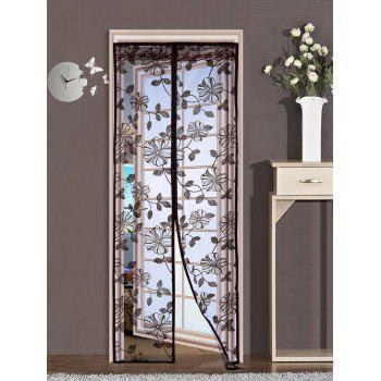 Anti Insect Floral Mesh Magnetic Door Curtain
