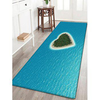 Heart Island Pattern Indoor Outdoor Area Rug