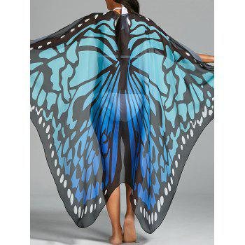 Butterfly Wing Print Beach Cover Up