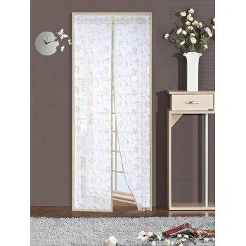Summer Mesh Anti Insect Breathable Door Magnetic Curtain - BEIGE BEIGE