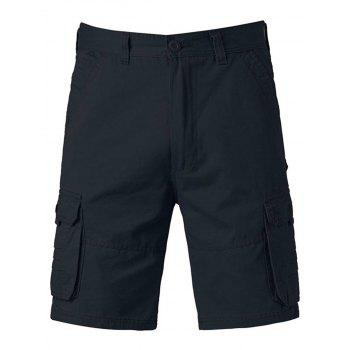 Zipper Fly Pockets Design Applique Cargo Shorts - CADETBLUE 32