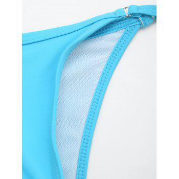 Tie Side Thong String Swimming Panties - LIGHT BLUE LIGHT BLUE