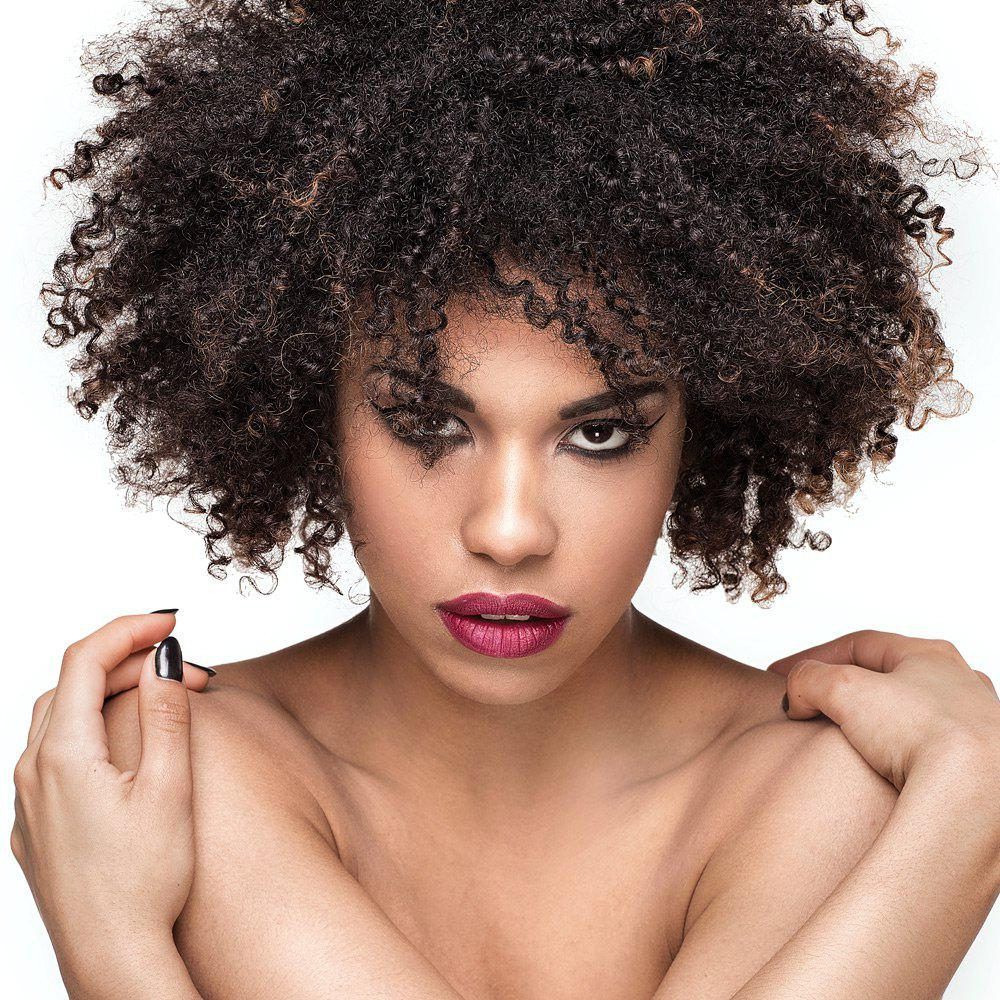 Shaggy Colormix Short Afro Kinky Curly Synthetic Wig cheap afro kinky curly wig synthetic short wigs for african american black women ombre kanekalon fiber jewish kosher u part wig