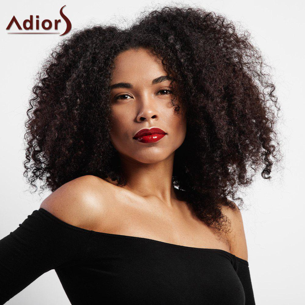 Center Parting Short Shaggy Afro Kinky Curly Synthetic Wig cheap afro kinky curly wig synthetic short wigs for african american black women ombre kanekalon fiber jewish kosher u part wig