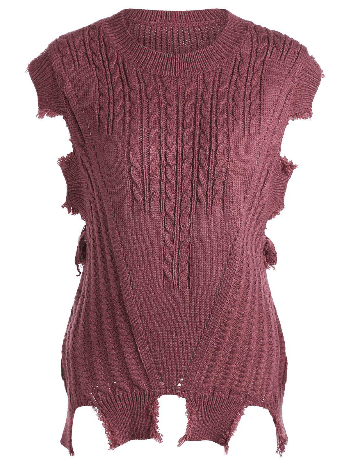 Cable Knit Sweater Vest charter club new blue sky women s medium m cable knit crewneck sweater $59 359