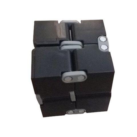 EDC Plastic Infinity Cube for Stress Relief - BLACK