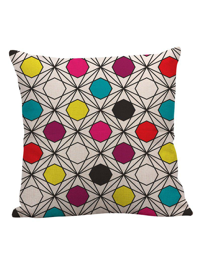Geometric Linen Pillow Case - multicolorCOLOR 45*45CM