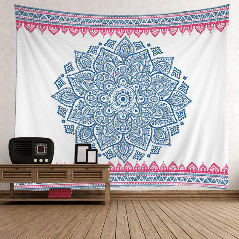 Bohemian Mandala Floral Wall Tapestry - LIGHT BLUE 200*150CM