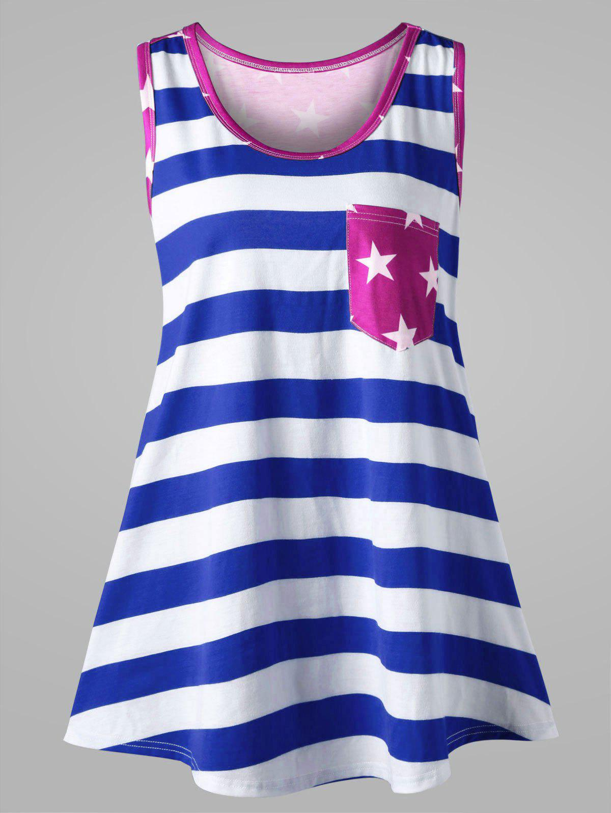 Plus Size American Flag Bowknot Embellished Tank Top side bowknot embellished plus size sweatshirts page 2