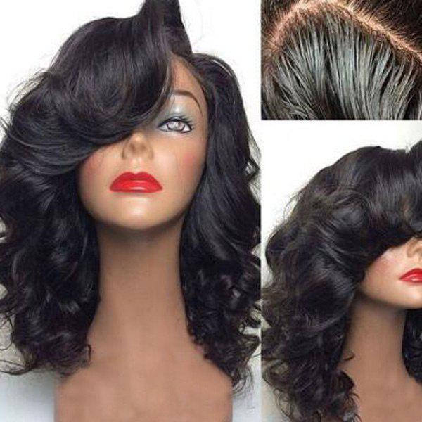 Medium Shaggy Side Part Body Wavy Lace Front Human Hair Wig in stock 24inch multi color body wavy lace wigs