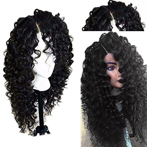 Long Side Part Shaggy Jerry Curly Lace Front Human Hair Wig 150% density kinky curly human hair wigs high quality virgin indian hair full lace lace front wig with baby hair side part sale