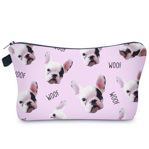 Animal Printed Makeup Clutch Bag - PINK