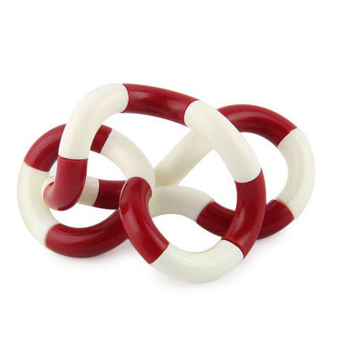 Stress Reliever Fidget Tangle Toy - Rouge et Blanc