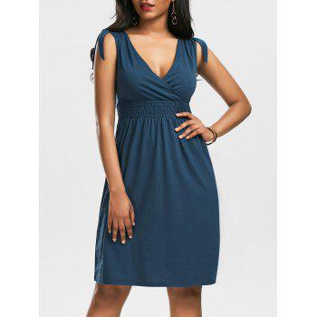 V Neck Empire Waist Cocktail Dress