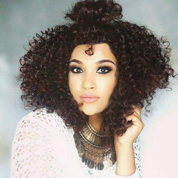 Free Part Shaggy Medium Afro Curly Synthetic Wig