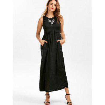 Empire Waist Maxi Tank Dress, BLACK, S in Maxi Dresses | DressLily.com