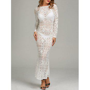 Halter Backless Lace Maxi Dress