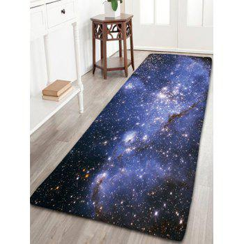 Flannel Skidproof Bath Mat with Milky Way Print