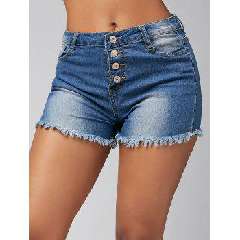 High Waisted Skinny Denim Mini Shorts