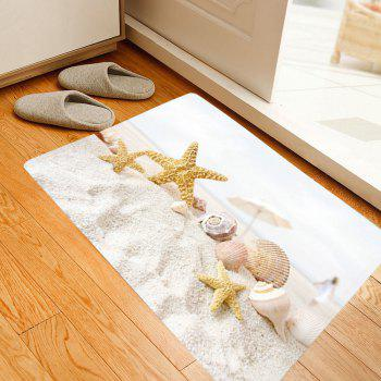 Beach Starfish Conch Pattern Indoor Outdoor Area Rug