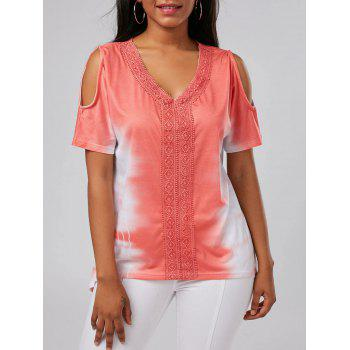 Cold Shoulder Tie Dye Tunic Tee