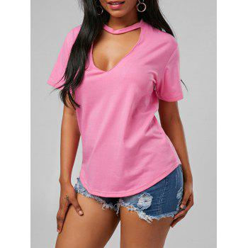 Low Cut Choker T Shirt