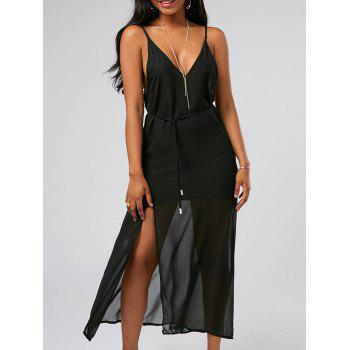 Backless Chiffon High Slit Maxi Party Dress