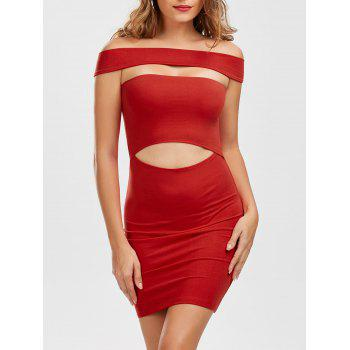 Off The Shoulder Cut Out Mini Dress