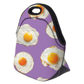 Food Print Lunch Tote Bag -  PURPLE