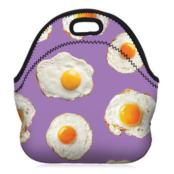 Food Print Lunch Tote Bag - PURPLE PURPLE