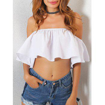Off The Shoulder High Low Crop Top