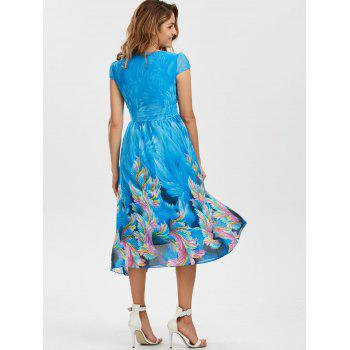 Bohemian Chiffon Midi Floral Dress - 2XL 2XL