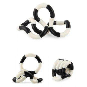 Stress Reliever Fidget Tangle Toy - Blanc Noir