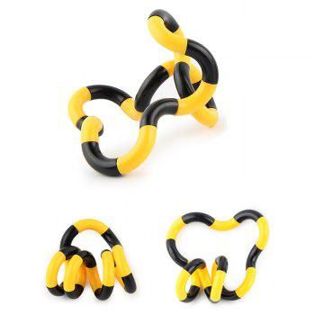 Stress Reliever Fidget Tangle Toy -  YELLOW/BLACK