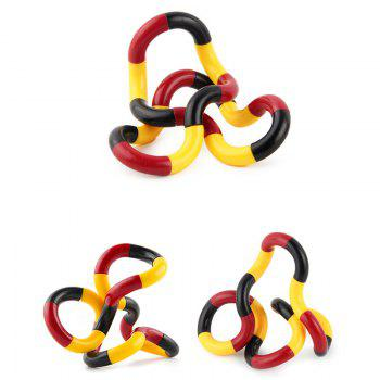 Stress Reliever Fidget Tangle Toy - YELLOW/RED
