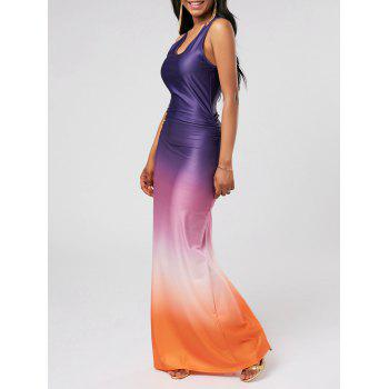 Ombre Racerback Floor Length Evening Dress