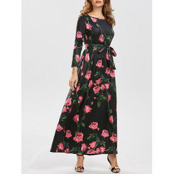 Long Sleeves Floral Maxi Dress