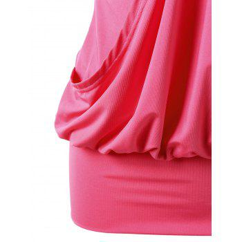 Sleeveless Rhinestone Embellished Tight Dress - WATERMELON RED WATERMELON RED