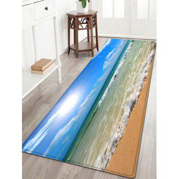 Beach Sea Wave Pattern Indoor Outdoor Area Rug