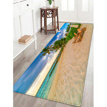 Beach Desk Chair Pattern Indoor Outdoor Area Rug