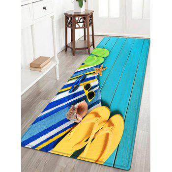 Flip Flop Wood Pattern Indoor Outdoor Area Rug